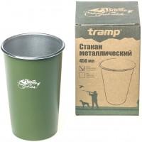 Стакан Tramp металлический оливковый, 450 мл