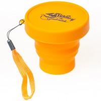 Стакан складной Tramp силиконовый с крышкой (оранжевый), 180 мл