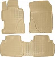 Коврики в салон для Honda Civic 4D '06-12 полиуретановые, бежевые (Novline)