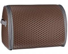 Органайзер в багажник EVA-полимерный, L, шоколадный с серой тесьмой (Kinetic)