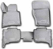 Коврики в салон 3D для Volkswagen Touareg '10-18 полиуретановые (Novline / Element) 8 клипс
