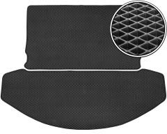 Kinetic Килимок в багажник для Mazda CX-9 '16-, 2 частини, EVA-полімерний, чорний (Kinetic)