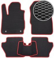 Kinetic Коврики в салон для Ford Fiesta '09-17, EVA-полимерные, черные с красной тесьмой (Kinetic)