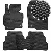 Kinetic Килимки в салон для Mazda CX-5 '12-17 USA, EVA-полімерні, чорні з підп'ятником (Kinetic)