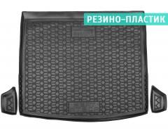 Коврик в багажник для Seat Ateca 2017-, нижний c органайзером, резино-пластиковый (AVTO-Gumm)