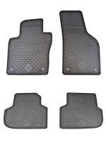 Коврики в салон для Volkswagen Jetta VI '10- резиновые, черные (Doma)