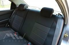 Фото 6 - Авточехлы Premium для салона Chevrolet Aveo '04-11, седан красная строчка (MW Brothers)