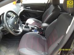 Авточехлы Premium для салона Chevrolet Cruze '09- красная строчка (MW Brothers)