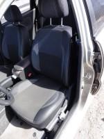 Авточехлы Premium для салона Chevrolet Lanos красная строчка (MW Brothers) с отдельными задними подголовниками