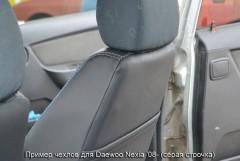 Фото 2 - Авточехлы Premium для салона Daewoo Nexia '08- красная строчка (MW Brothers)