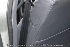 Фото 3 - Авточехлы Premium для салона Daewoo Nexia '08- красная строчка (MW Brothers)