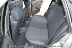 Фото 4 - Авточехлы Premium для салона Daewoo Nexia '08- красная строчка (MW Brothers)