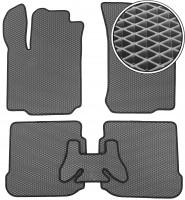 Коврики в салон для Skoda Octavia '97-09, EVA-полимерные, серые с черной тесьмой (Kinetic)