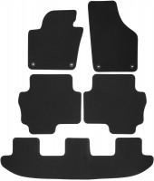 Коврики в салон для Volkswagen Sharan '10- текстильные серые (VAG-Group) 1+2+3 ряд, OEM 7N1 863 011