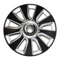 Колпаки на колеса R15 STRATOS RC black&silver (Elegant)