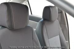 Авточехлы Premium для салона Hyundai Accent '06-10 красная строчка (MW Brothers)