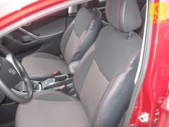 Авточехлы Premium для салона Hyundai Elantra MD '11-15 красная строчка (MW Brothers)