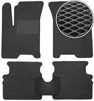 Коврики в салон для Chevrolet Aveo '04-11, EVA-полимерные, черные с подпятником (Kinetic)
