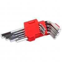 Набор Г-образных шестигранных ключей 9 шт., 1,5-10 мм. LA 511601 (Lavita)