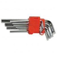 Набор Г-образных шестигранных ключей 9 шт., 1,5-10 мм. удлиненные LA 511602 (Lavita)