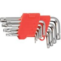 Набор Г-образных шестигранных ключей TORX 9 шт., Т10-Т45 мм. LA 511603 (Lavita)