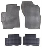 Ковры резиновые для Mitsubishi Lancer X '07- черные (Petex)