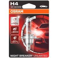 Фото 1 - Автомобильная лампочка Osram Night Breaker Unlimited H4 12V в блистере
