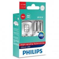 Автомобильные лампочки Philips Ultinon Red (P21/5W) 2,0W (комплект 2 шт.)