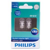 Автомобильные лампочки Philips Ultinon LED T10 (W5W) 4000К (2 шт.)