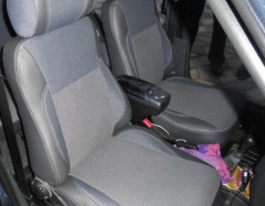 Авточехлы Premium для салона Lada (Ваз) 2109-2115 '90-12 красная строчка (MW Brothers)