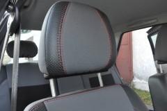 Авточехлы Premium для салона Lada (Ваз) Priora 2170 '07-, седан красная строчка (MW Brothers)