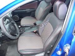 Авточехлы Premium для салона Mazda 3 '04-09 красная строчка (MW Brothers)
