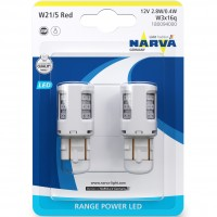 Фото товара 1 - Автомобильная лампочка Narva Range Power LED 18009.2B W21/5 12 V 2.7W (Комплект: 2 шт.)