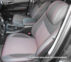 Авточехлы Premium для салона Mitsubishi Outlander XL '07-12 красная строчка (MW Brothers)