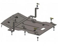 Защита двигателя и радиатора для BMW X1 E84 '09-15, V-2,0D, АКПП, задний привод (Кольчуга)