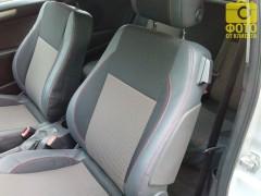 Авточехлы Premium для салона Opel Astra H '04-15, красная строчка (MW Brothers)