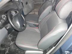 Авточехлы Premium для салона Renault Logan '04-12 красная строчка (MW Brothers)