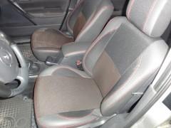 Авточехлы Premium для салона Renault Megane '02-08 красная строчка (MW Brothers)