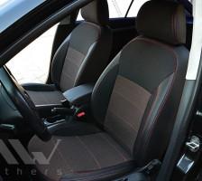 Авточехлы Premium для салона Skoda Octavia A5 '05-13 красная строчка, Ambiente/Elegance (MW Brothers)