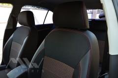 Фото 4 - Авточехлы Premium для салона Skoda Octavia A5 '05-13 красная строчка, Ambiente/Elegance (MW Brothers)