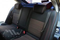 Фото 5 - Авточехлы Premium для салона Skoda Octavia A5 '05-13 красная строчка, Ambiente/Elegance (MW Brothers)