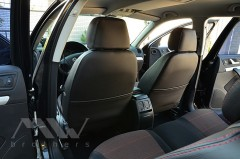 Фото 7 - Авточехлы Premium для салона Skoda Octavia A5 '05-13 красная строчка, Ambiente/Elegance (MW Brothers)
