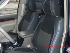 Авточехлы Premium для салона Toyota Land Cruiser Prado 120 '03-09, 5 мест красная строчка (MW Brothers)