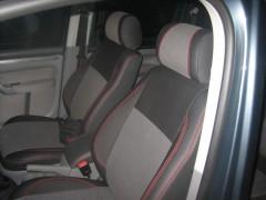 Авточехлы Premium для салона Volkswagen Caddy '04-10 красная строчка (MW Brothers)