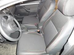 Авточехлы Premium для салона Volkswagen Golf VI '09-12 красная строчка (MW Brothers)