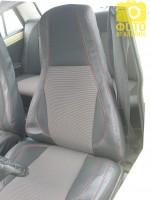 Авточехлы Premium для салона ВАЗ 2107 '81-12 красная строчка (MW Brothers)