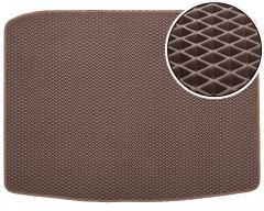Коврик в багажник для Seat Ateca '17-, без органайзера, EVA-полимерный, коричневый (Kinetic)