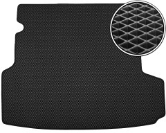 Kinetic Коврик в багажник для BMW 3 F31 '12- универсал, EVA-полимерный, черный с вырезами (Kinetic)