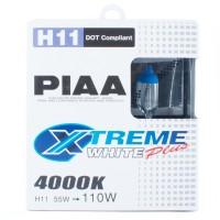 Автомобильные галогеновые лампочки PIAA Xtreme White Plus 4000K H11 H-354E (2шт)