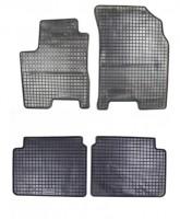 Коврики в салон для Chevrolet Aveo '04-11 резиновые, черные (Petex)